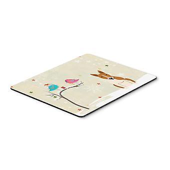 Caroline s Treasures Weihnachtsgeschenke, Bull Terrier rot weiße Maus Pad, mehrfarbig, 7.75x9.25 (Bb2607mp)