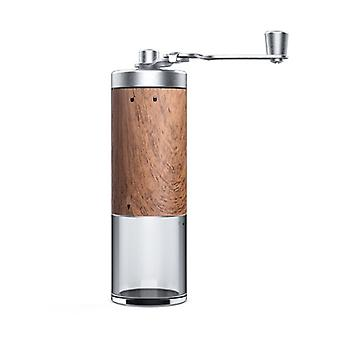 Wood grain designed mini stainless steel coffee grinder