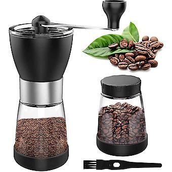 Manual Coffee Grinder with Brush Spice Grinder Best Burr Coffee Grinder Adjustable Setting Coarse