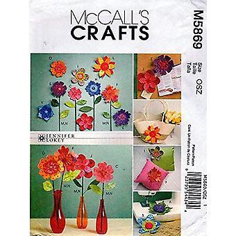 McCalls ompelu kuvio 5869 mittakukat craft yksi koko