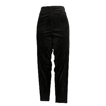 Cuddl Duds Plus Leggings Double Pluche Velours Black A293100