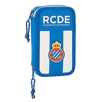 Double Pencil Case RCD Espanyol Blue White (28 pcs)