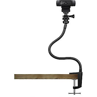 HanFei 15 Zoll Halterung Webcam - mit flexiblen Schwanenhals und Tischklemmen, Webcam Stnder geeignet