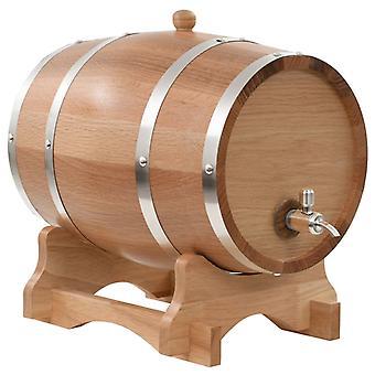 Tonneau de vin avec robinet bois de chêne massif 12 L