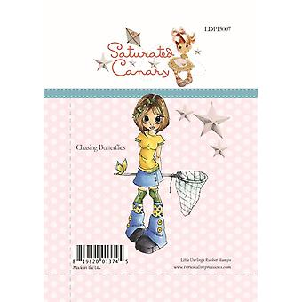 Little Darlings Chasing Butterflies - Clear Stamps