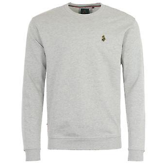 Luke 1977 The Runner Crew Neck Sweatshirt - Light Marle Grey