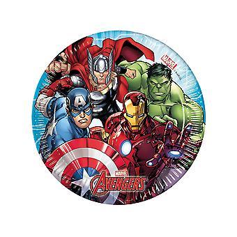 8 Petites assiettes en carton Avengers Mighty  20 cm