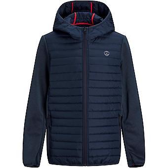 Jack and Jones Kids Multi Quited Hood Jacket Full Zip Long Sleeve Top Outerwear