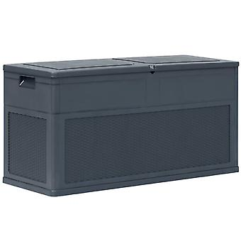 vidaXL Garden Storage Box 320 L Anthracite