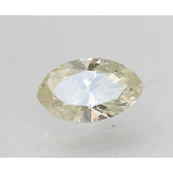 Sertifioitu 0,63 Karat I Väri SI2 Markiisi Natural Loose Diamond 7.63x4.49mm