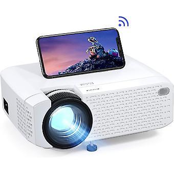 FengChun Mini-Projektor für das Heimkino, unterstützt Full-HD-Video mit 1080 Pixeln,