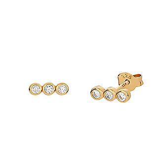 NOELANI - Women's earrings in silver 925 gold plated with zircons