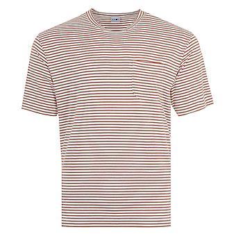 NN07 Kurt Stripe Sustainable Tencel Blend T-Shirt - Brown