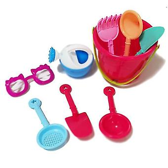 9-piece Castle Bucket Set, Baby Playing In Water And Sand Educational Toys