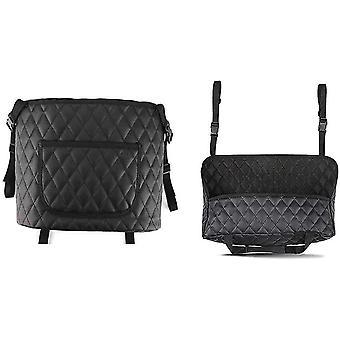 سيارة منظم حقيبة تخزين جلدية بين مقعد السيارة حامل حقيبة يد سيارة صافي جيب التخزين cai1412