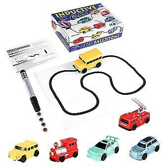 Enlighten Magic Pen Draw Toy Railroad Inductieve Treinen Rc Tank Toy Draw Lines