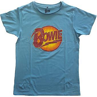David Bowie - Vintage Diamond Dogs Unisex Large T-Shirt - Blu