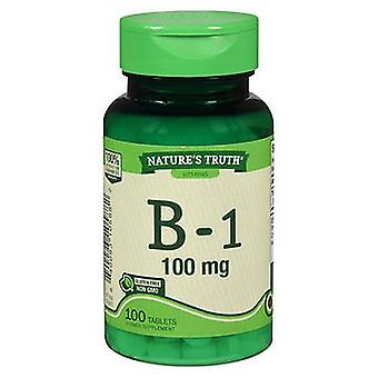 Luonnon totuus B-1, 100 mg, 100 Tabs