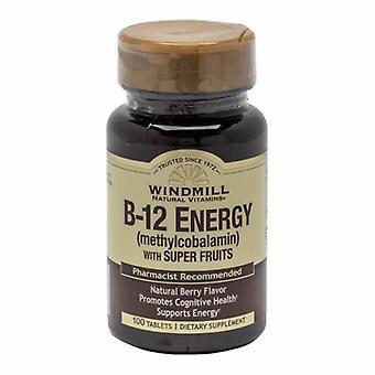 Windmill Health Vitamin B-12 with Super Fruits, 100 Tabs