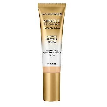 Max Factor Miracle Second Skin Foundation Hydrate Protect Renew SPF20 30ml Fair #01