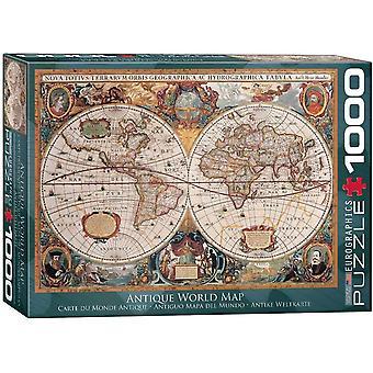 Eurographics Antique World Map Jigsaw Puzzle (1000 Pièces)