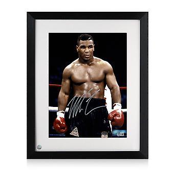 Mike Tyson allekirjoitti nyrkkeilykuvan: Maailman huonoin mies. kehystetty