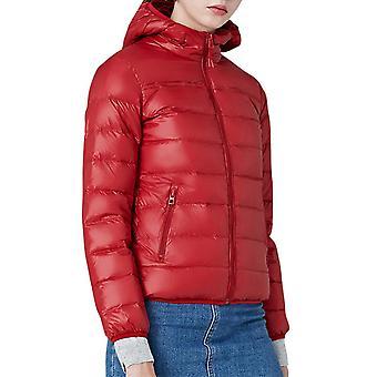 Women's Solid Color Hooded Zipper Coat عارضة سترة