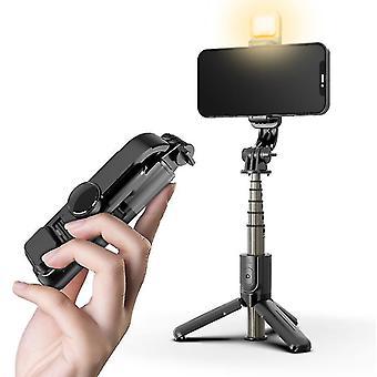 Kannettava matkapuhelin bluetooth-kaukosäätimen selfie-tikku täyttövalolla live-lähetykseen