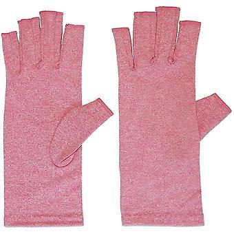 Gigt handsker med greb til mænd fingerløs kompression (L)