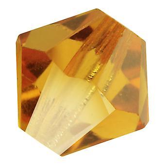 Preciosa التشيكية كريستال، بيكون حبة 6mm، 24 قطعة، توباز
