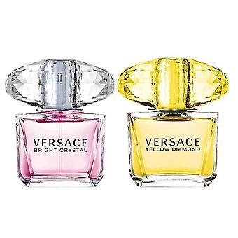 Versace lahjasetti kirkas kristalli 30ml edt + keltainen timantti 30ml edt