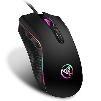 High-end optical professional gaming mouse with 7 bright colors led backlit and ergonomics design for lol cs