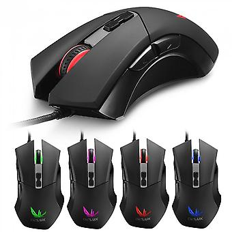 Delux M555 Gaming Mouse Usb Wired Ergonomics Design Desktop Plug And Play
