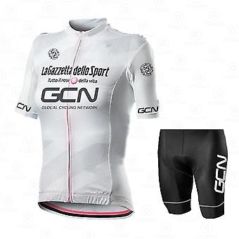 Gcn Women Cycling Jersey Set Short Sleeve  3d Padded Bicycle Shorts