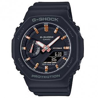 G-Shock Gma-s2100-1aer Mini Casioak Black & Rose Gold Silicone Watch