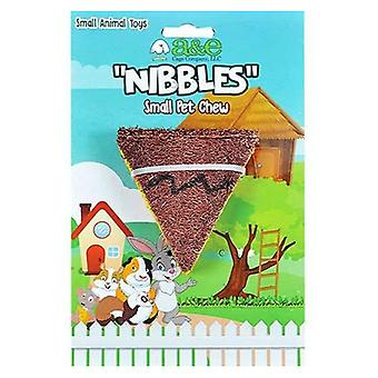 AE Cage Company Nibbles Pizza Slice Loofah Chew Toy - 1 count