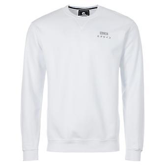 Edwin Base Crew Neck Sweatshirt - White