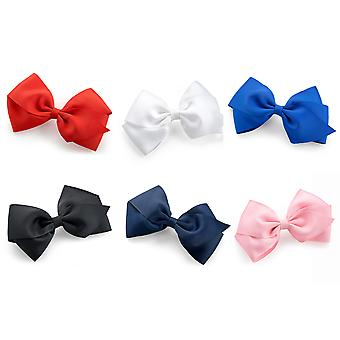 Ribbon Bow Hair Clip  14cm Various Colours