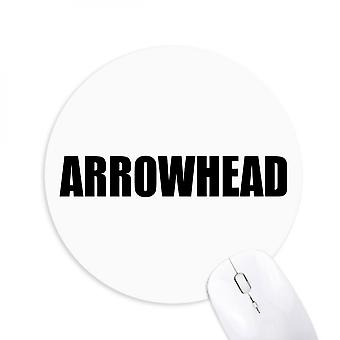 Arrowhead Vegetable Name Foods Round Non-slip Rubber Mousepad Game Office Mouse Pad