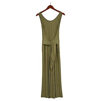 Brittany Humble Jumpsuits Tie-Front Jumpsuit Green One-Piece 754099