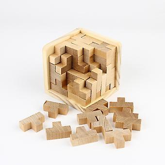 Iq puzzle fából, 3d - kocka
