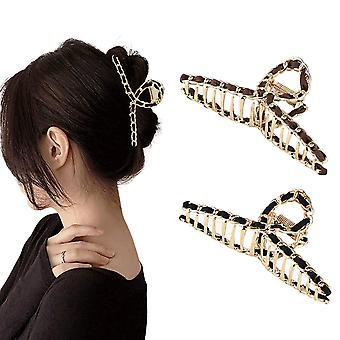 2pcs Metal Hårnåle kæde skridsikker hovedbeklædning til damer og piger hår tilbehør