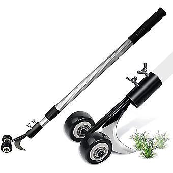 Weed Remover Tool Long Handled Adjustable, Weeding Tools With Wheels, Block Paving Weeder Tool, Patio Weed Remover Tool Scraper, No Bending Down Weed