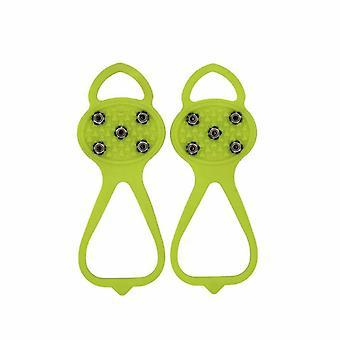 Outdoor Sport Kalebas Type Vijftand Antislip Stijgijzers Schoenovertrek M Maat (groen)