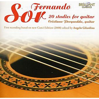 F. Sor - Fernando Sor: 20 Studies for Guitar [CD] USA import