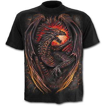 Spiral - dragon furnace - men's short sleeve t-shirt, black