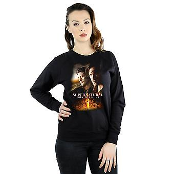 Supernatural Women's Flaming Poster Sweatshirt