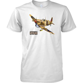 Supermarine Spitfire - Wüste CamoFlage - WW2-Fighter - Kinder T Shirt