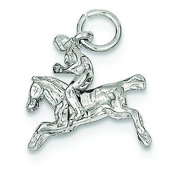 925 sterling silver solid polerad rörligt Bronco charm-2,2 gram