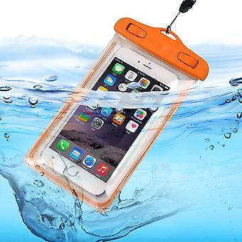(Orange) Waterproof Mobile Phone Bag For Vivo Nex A
